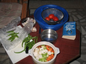 the makings of homemade soup