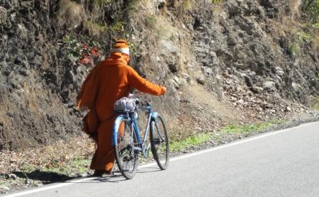 baba with bike