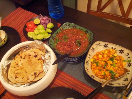 Rajma, Paneer and Perfect Chapati