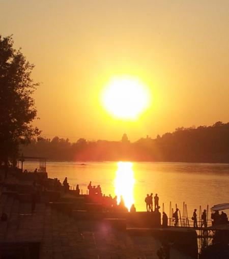 ram jhula sunset