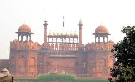 Red Fort on a Very Hazy Day