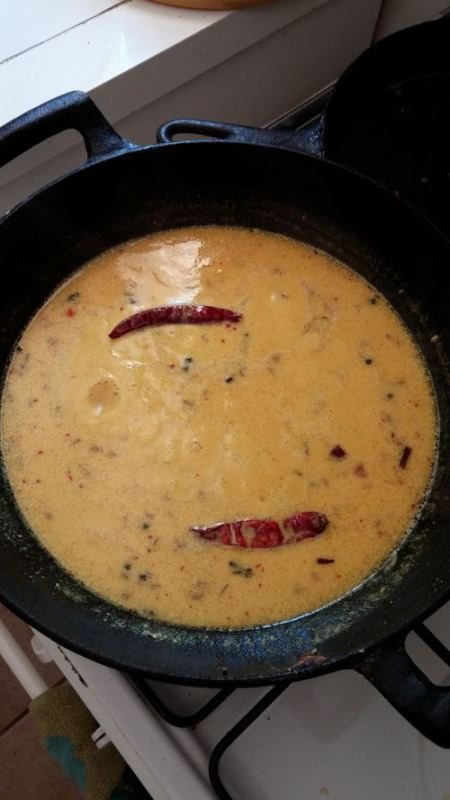 Curry simmering on the stove