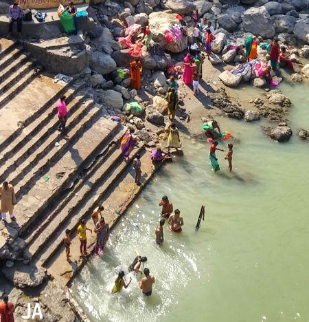 GANGA BATHING