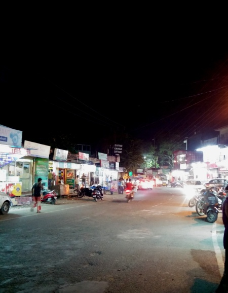 TAPOVAN LIT UP AT NIGHT...MY FIRST TIME TO VIEW THIS ALONE