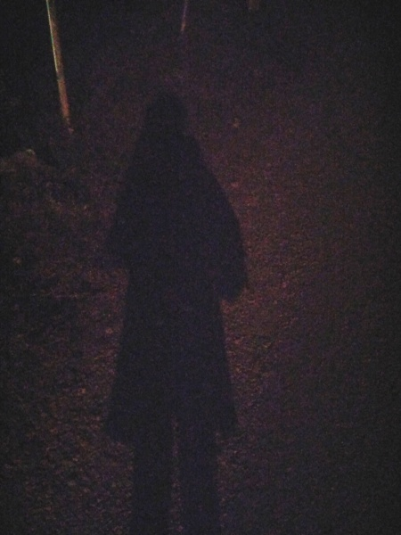 MY SHADOW ON THE DARK MOUNTAIN ROAD