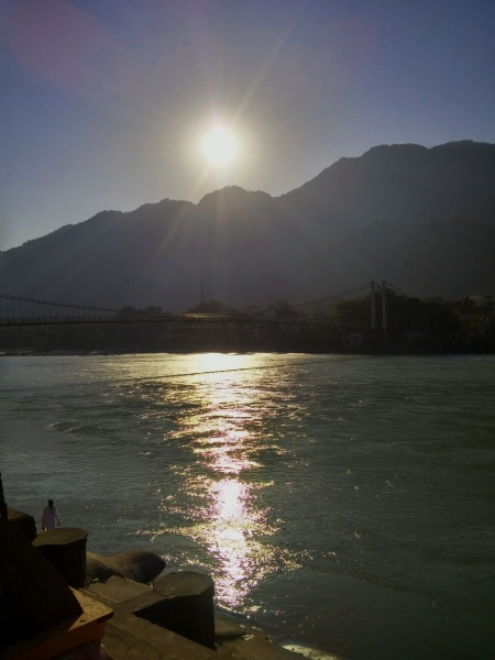 SUN RISING OVER RAM JHULA