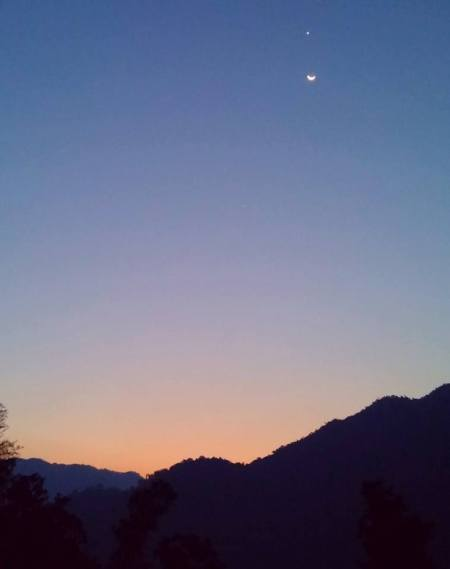 SUNRISE, MOON AND MORNING STAR