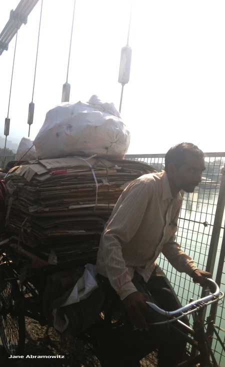 on ram jhula bridge