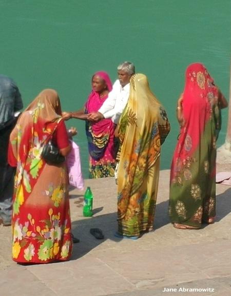 along swag ashram ghats